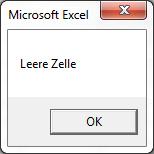 Leere Zelle