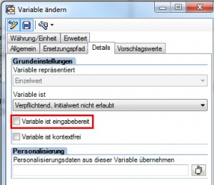 Customer Exit Variable Details