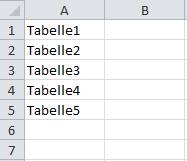 Tabellennamen über Makro auslesen