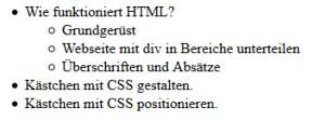 HTML Listen