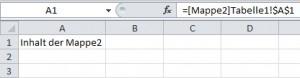 Verknüpfung zu einer anderen Excel-Mappe