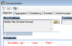 Inverse Formel für März