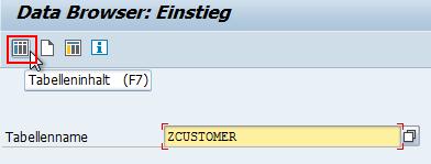 Tabelleninhalt über Data Browser einsehen
