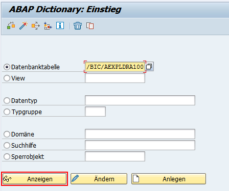 ABAP Dictionary - Datenbanktabelle