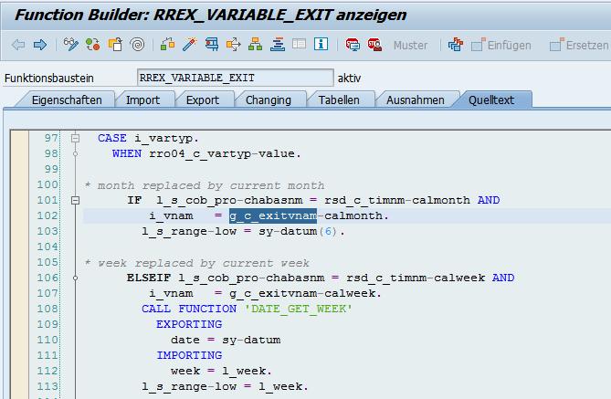 Quelltext alter SAP Exits