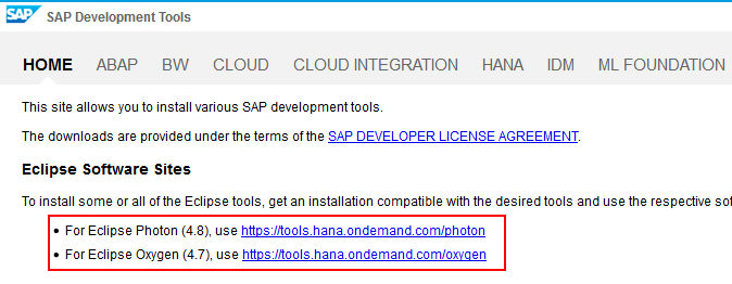 SAP Development Tools
