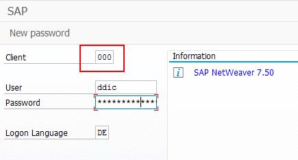 In SAP einloggen