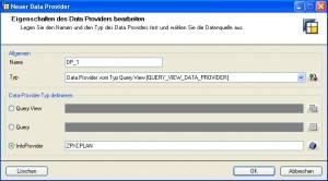 Den Sender als Info Provider festlegen