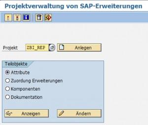 Projektverwaltung von SAP-Erweiterungen