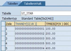 ABAP INSERT Anweisung mit INDEX