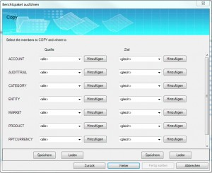 DataPackage - Eingabe der Werte