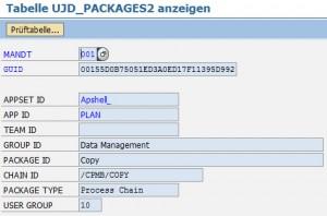 Informationen über das DataPackage