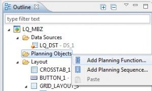 Planungsobjekt über Outline hinzufügen