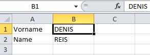 Eingaben werden über VBA in Großbuchstaben umgewandelt