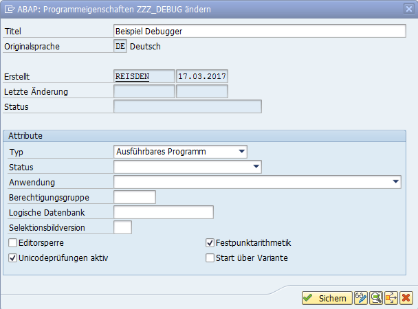 ABAP Programmeigenschaften