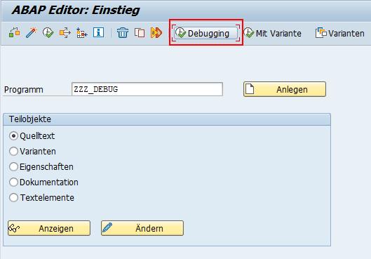 ABAP Editor Debugging