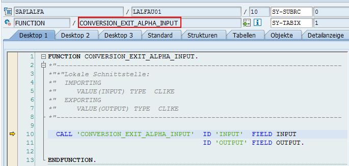 Baustein CONVERSION_EXIT_ALPHA_INPUT