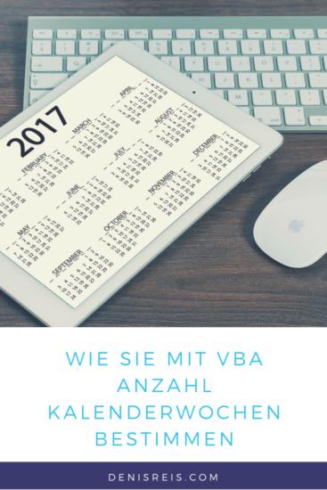 Wie Sie mit Excel VBA Wochen eines Jahres zählen