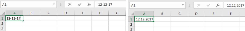Verinfachte Datumseingabe in Excel