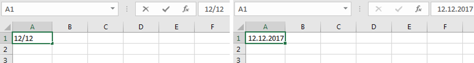 Datum des aktuellen Jahres schnell eingeben