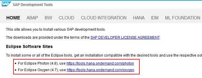 SAP Development Tools