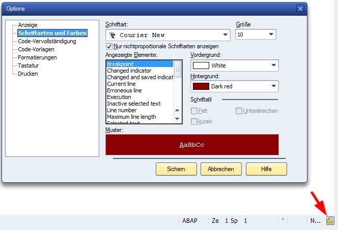 Eigene Farben für ABAP Elemente