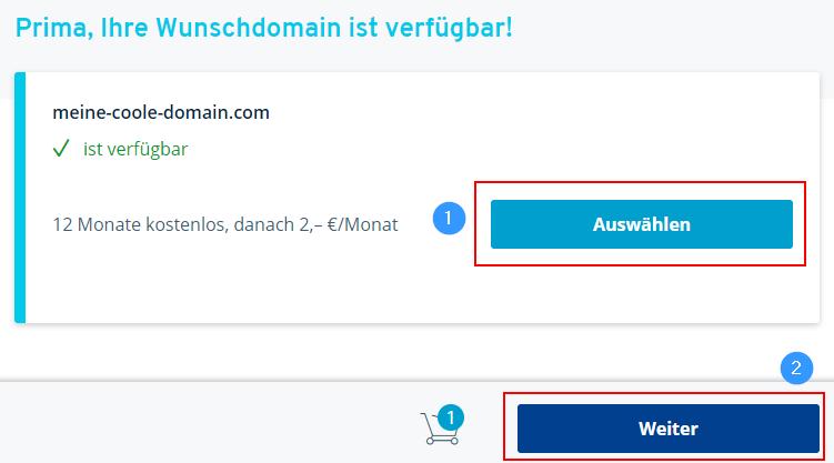 Domain verfügbar