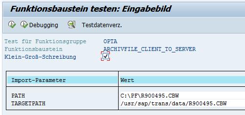 Datei in den DATA Ordner hochladen