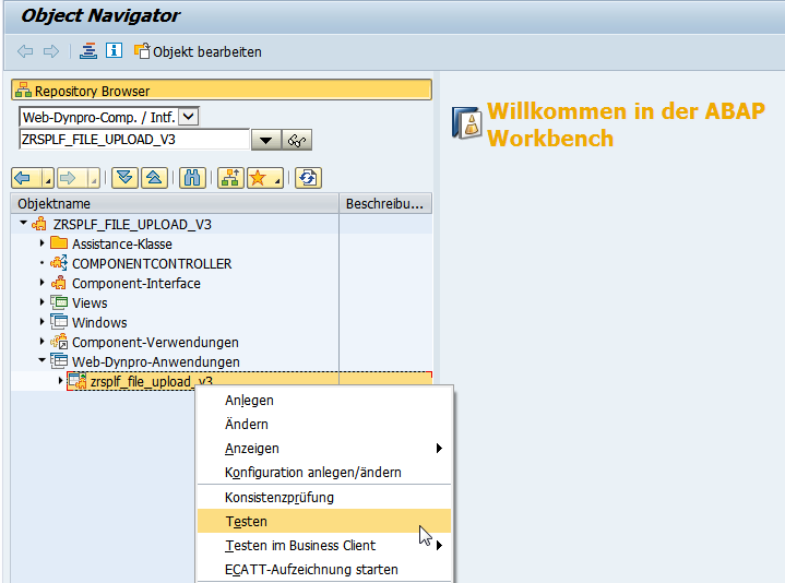 WebDynpro Anwendung aufrufen
