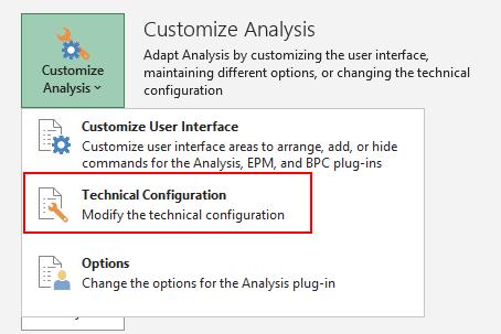 Technische Konfiguration von Analysis for Office